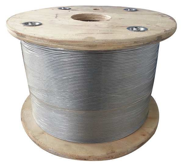 Dayton Cable, 1/4 in., 50 ft., 7 x 19, Steel 33RH42