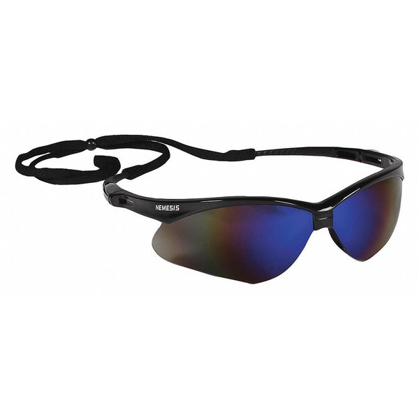 Kleenguard V30 Nemesis Safety Glasses Black Frame And Blue Scratch-Resistant Lens 14481