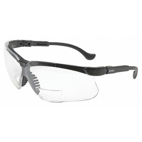 Uvex Safety Glasses With Black Frame And Clear Scratch-Resistant Lens S3763