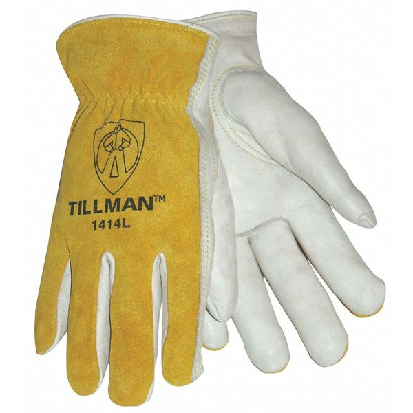 Tillman Leather Drivers Gloves,  Cowhide,  XL,  PR,  Cuff: Rolled 1414XL