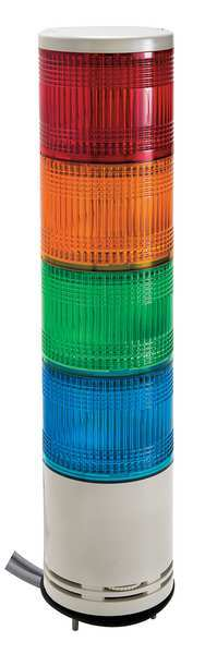 Schneider Electric Tower Light, 100mm, Red, Orange, Green, Blue XVC1M4SK