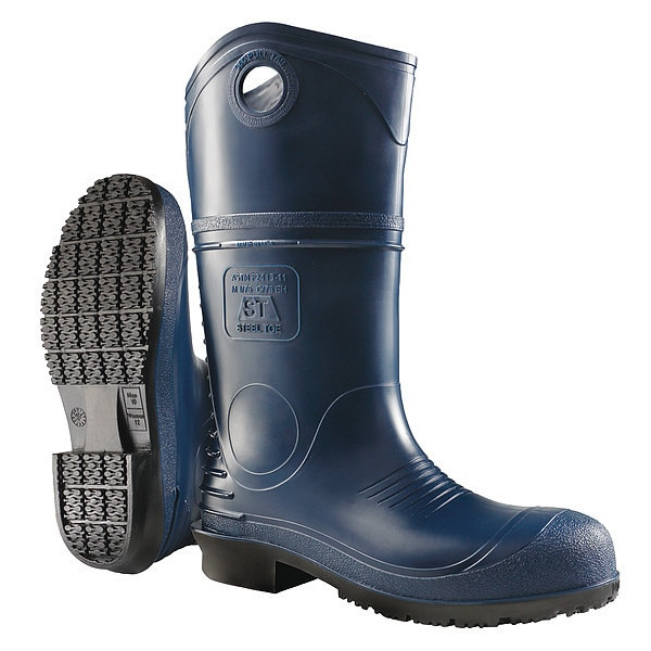 Dunlop Size 9 Men's Steel Rubber Boot,  Blue 89086