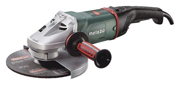 Metabo Angle Grinder, 9'', 15 A, 6600 RPM, 120VAC W24-230 MVT