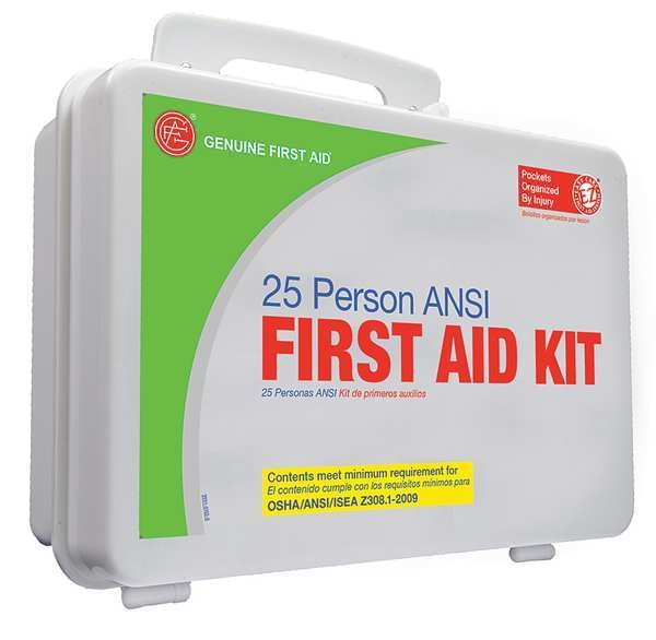 Zoro Select Bulk First Aid kit,  Plastic,  25 Person 9999-2129
