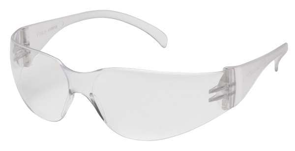 Pyramex Intruder Safety Glasses Clear Frame And Clear Scratch-Resistant Lens S4110S