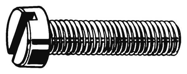 Fabory M6-1.0 x 60 mm. Cheese Head Slotted Machine Screw,  10 pk. M51120.060.0060
