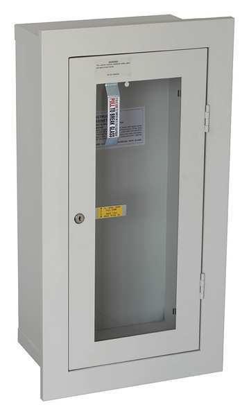 Zoro Select Fire Extinguisher Cabinet,  Semi Recessed,  28 in Height,  20 lb 35GX47