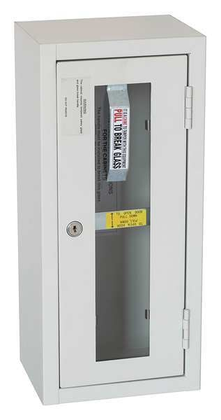 Zoro Select Fire Extinguisher Cabinet,  Surface Mount,  17 15/16 in Height,  5 lb 35GX48