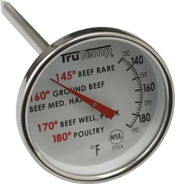 """Taylor 4"""" Analog Meat Thermometer with 120 to 190 (F) 3504"""