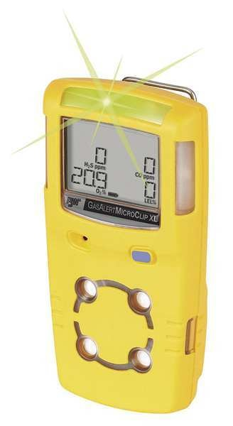 Bw Technologies Multi-Gas Detector, O2/CO, Yellow MCXL-X00M-Y-NA