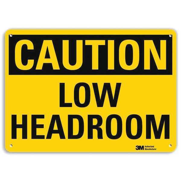 Lyle Safety Sign, Low Overhead Clearance, 7in.H U4-1514-RA_10X7