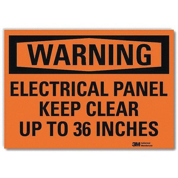 Lyle Warning Sign, Electrical Panel, 10 in. W U6-1076-RD_10X7