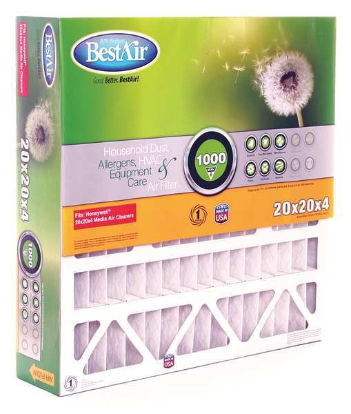 Bestair Pro 20x20x5 Synthetic Furnace Air Cleaner Filter,  MERV 8 5-2020-8-2