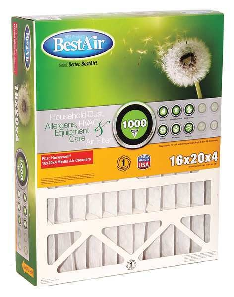 Bestair Pro 16x20x5 Synthetic Furnace Air Cleaner Filter,  MERV 8 5-1620-8-2