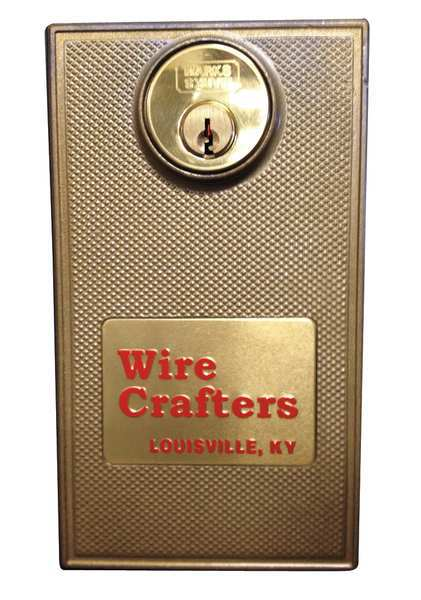 Wirecrafters Hinged Door Lock- Keyed Alike, Unfinished HDLKXKA