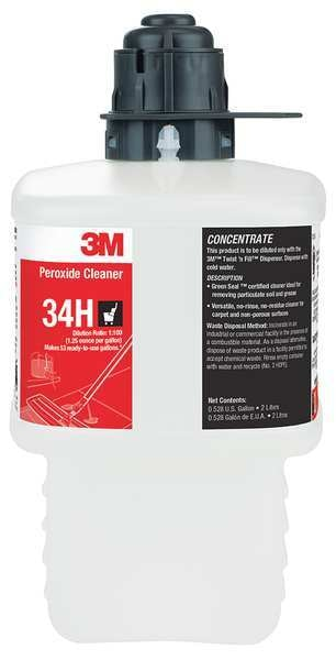 3M Peroxide Cleaner Concentrate,  2L Bottle,  Fragrance Free 34H