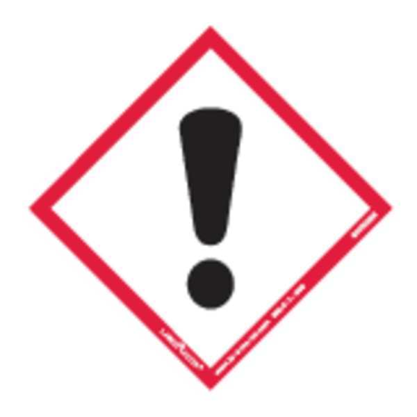 Labelmaster GHS Exclamation Mark Label, 4inx4in, 100 GHIS0066
