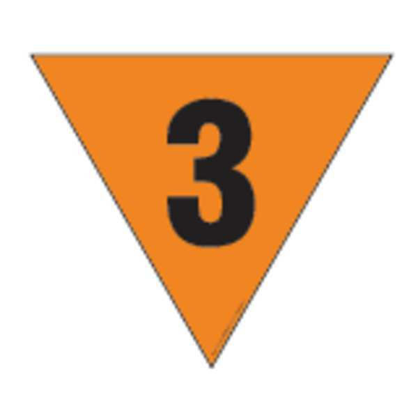 Labelmaster Fire Division Symbol Placard, 24inx24in, 3 HMPG146MG