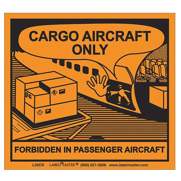 Labelmaster Cargo Aircraft Only Labl, 100mmx120mm, 100 L20CR