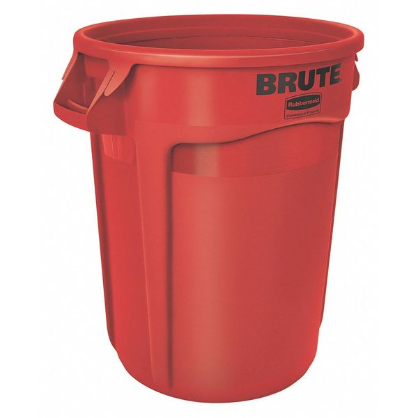 Rubbermaid 20 gal. Polyethylene Round Trash Can ,  Red FG262000RED