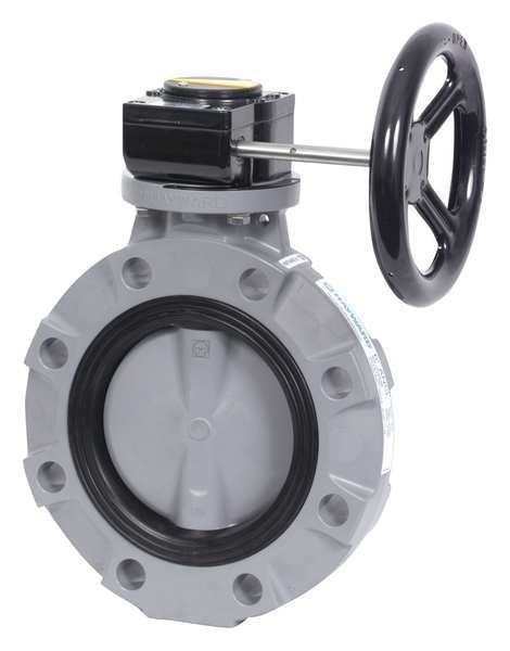 GFPP Disc Hayward BYV44040A0EG000 Series BYV Butterfly Valve EPDM Seals 4 Size GFPP Body Gear Operated
