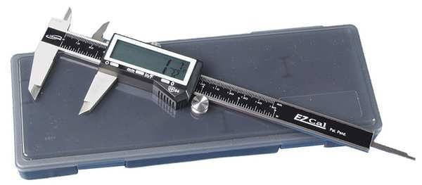 "Baileigh Industrial Fractional Digital Caliper, SS, 0-6""/150mm B-MEASUREDC"