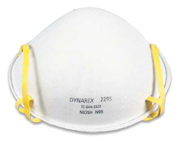 Universal N95 Disposable Pk240 White Respirator