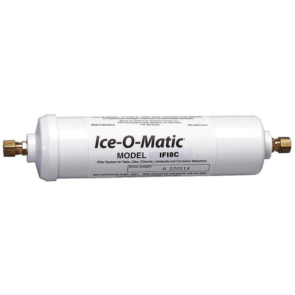 Ice-O-Matic Inline Water Filter, 3/8 in. Compression IFI8C