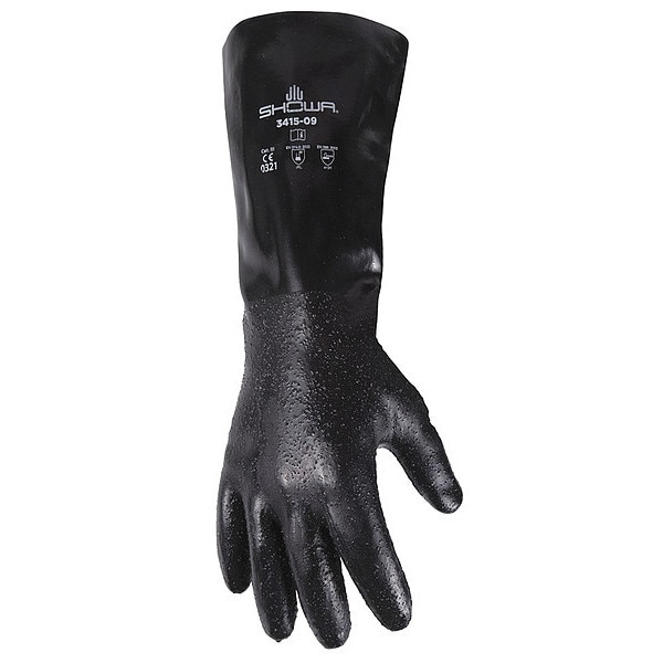 Showa Chemical Resistant Gloves, L, Supported, PR 3415-10