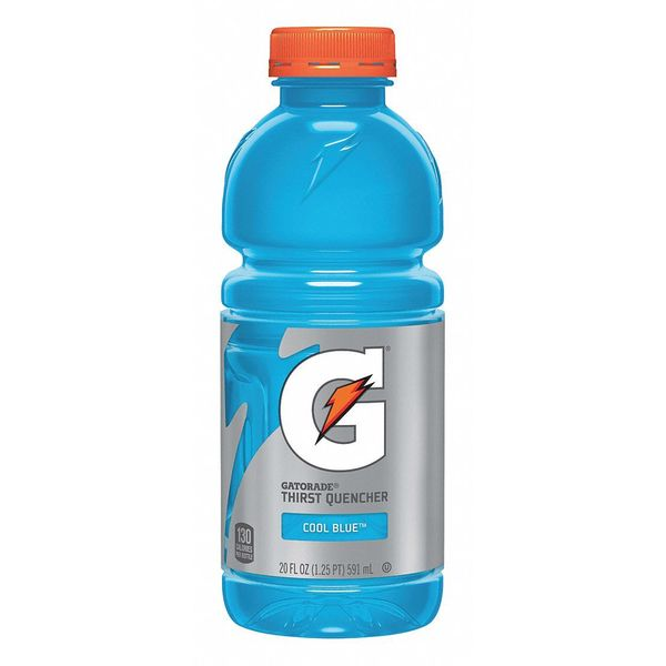 Gatorade Sports Drink Liquid Cool Blue 20 oz.,  PK24 32481