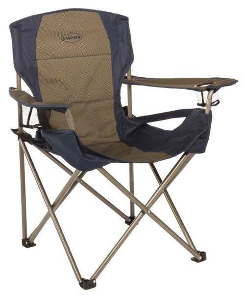 Kamp-Rite Tent Cot Inc Chair,  Blue/Gray,  20 in. L x 38 in. H CC026