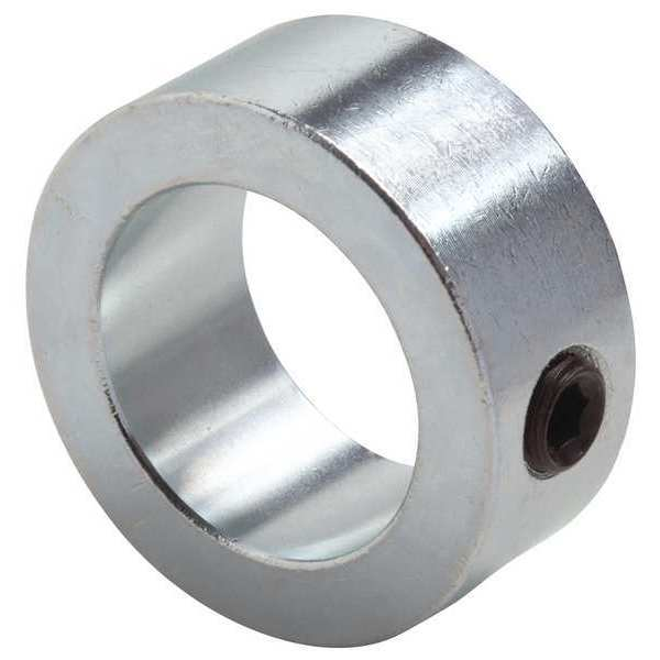 1 Shaft Set Screw Solid Steel Collar Stop zinc Plated 1 inch Collars