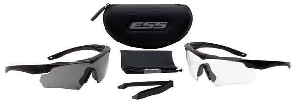 Ess Crossbow® Safety Glasses,  Interchangeable Anti-Fog,  Scratch-Resistant Lens 740-0504