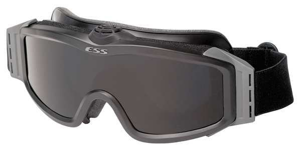 Ess Tactical Safety Goggles,  Clear,  Gray,  Smoke Anti-Fog,  Scratch-Resistant Lens,  5SY4 Series 740-0132