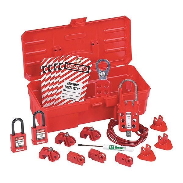 Panduit Contractor 34 Pc Lock-Out Kit, Rd PSL-KT-CONA
