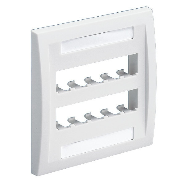 Panduit Faceplate, 10pt, Dblgang, Exec, Wh CFPE10WH-2GY