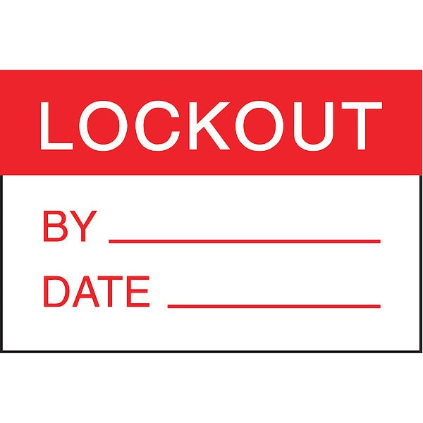 Panduit Warn Label,  ft.lock-Out. ft.,  Rd/wh PLD-68