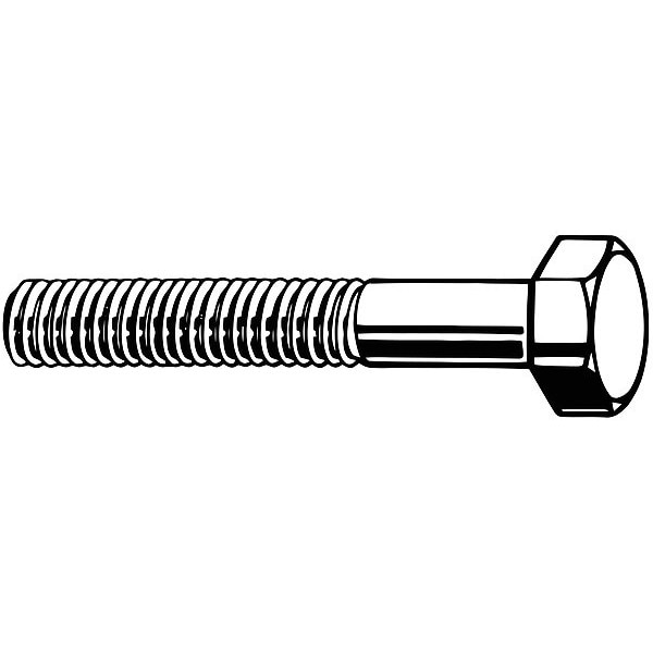"Fabory 3/8""-16 Grade 8 Hex Head Cap Screw,  Steel,  PK 25 N04100.037.0200"