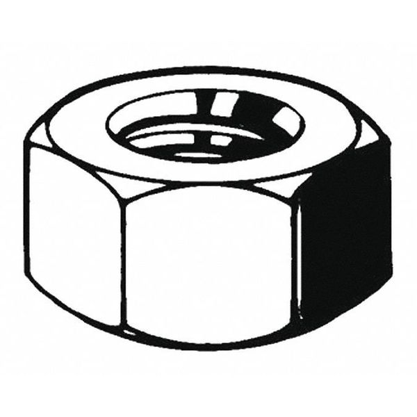 Fabory M27-3.00 Class 10 Hot Dip Galvanized Finish Carbon Steel Structural Nuts,  50 pk. M04225.270.0001