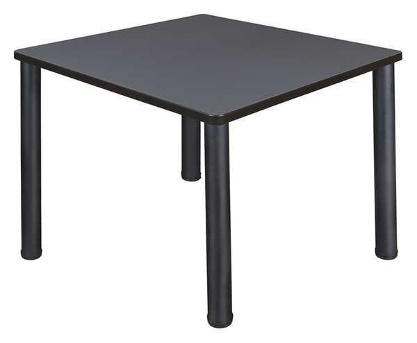 "Regency Square Cafe Table ,  36"" X 36"" X 29"" ,  Laminated Melamine Top,  TB3636GYBPBK"