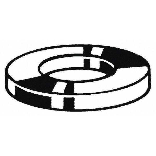 Fabory M10 x 18 mm OD Zinc Plated Finish Low Carbon Steel Flat Washer,  100 pk. M38250.100.0001