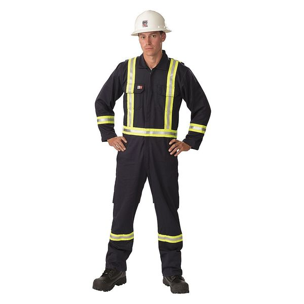 Big Bill FR Coverall, Navy, M, 31-1/4in., Hemmed 1155US7-MT-NAY