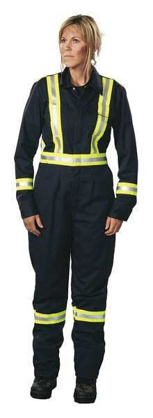 Big Bill Coverall, Navy, 3XL, 37-1/2in., Hemmed 1175US7-3XLR-NAY