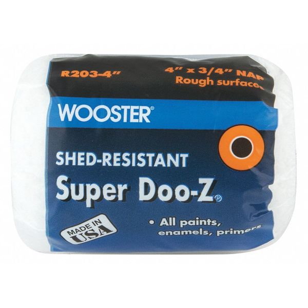 Wooster Paint Roller Cover, 4in.L., Rough R203-4