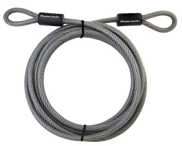Master Lock Security Cable, 3/8 in, 15 ft, Woven Steel 72DPF
