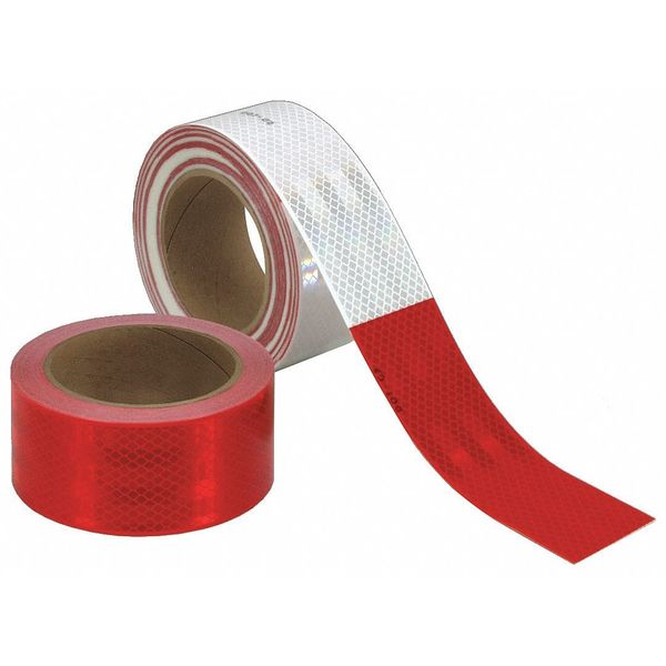 3M Reflective Tape, Red/White, 1 in. W 983-32