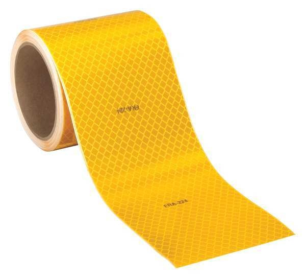 3M Reflective Tape, Fluorescent Yellow, 4in W 983