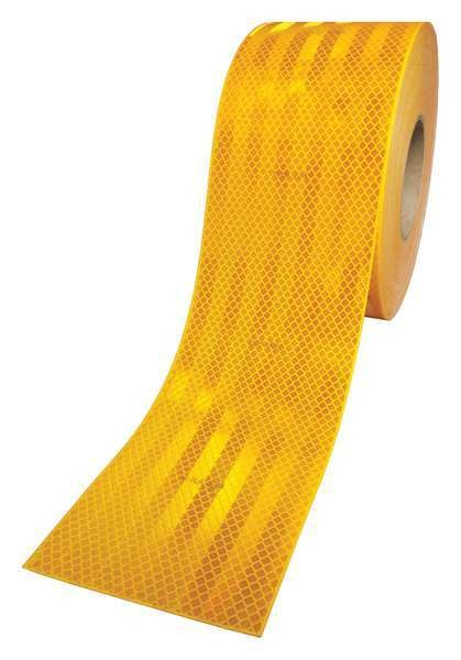 3M Reflective Tape, Yellow, 4 in. W 983-71  ES