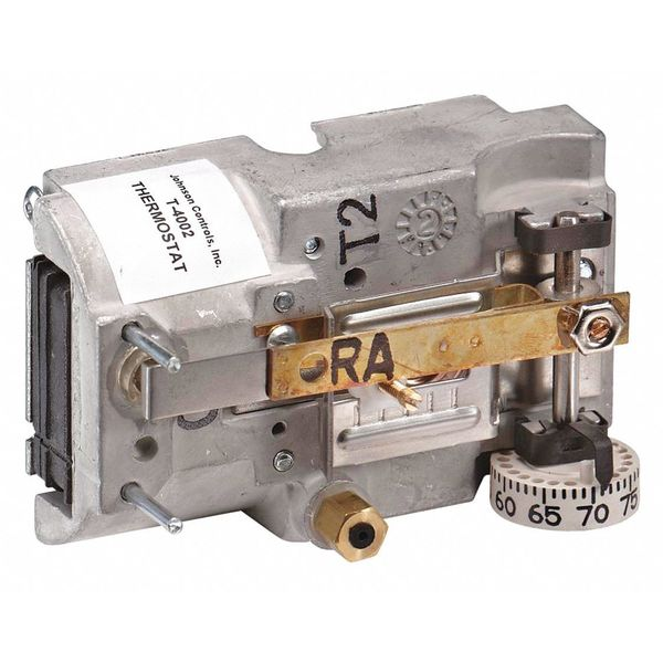 Johnson Controls Pneumatic Thermostat,  Single Temperature,  Heating and Cooling,  2 Pipe T-4002-202