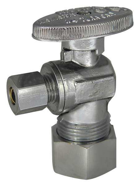 Kissler & Co Angle Stop Valve,  Brass,  Compression,  1/4in 88-9375